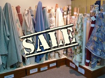 Curtain fabrics reduced to clear at special prices
